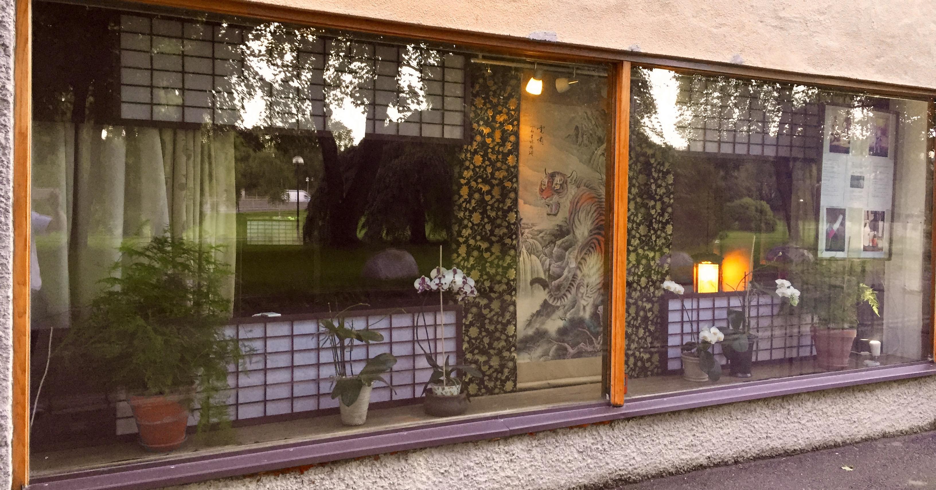Dojo front window
